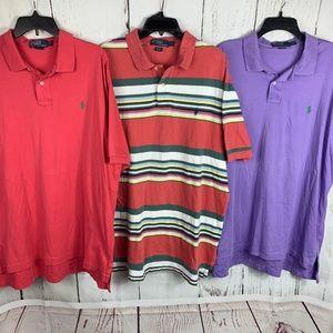 Lot of 3 Men's Polo Ralph Lauren Polo Shirts